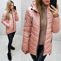 Куртка парка весна/осень, арт.300, цвет - розовая пудра