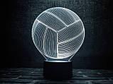 """Сменная пластина для 3D светильников """"Волейбольный мяч"""" 3DTOYSLAMP, фото 2"""