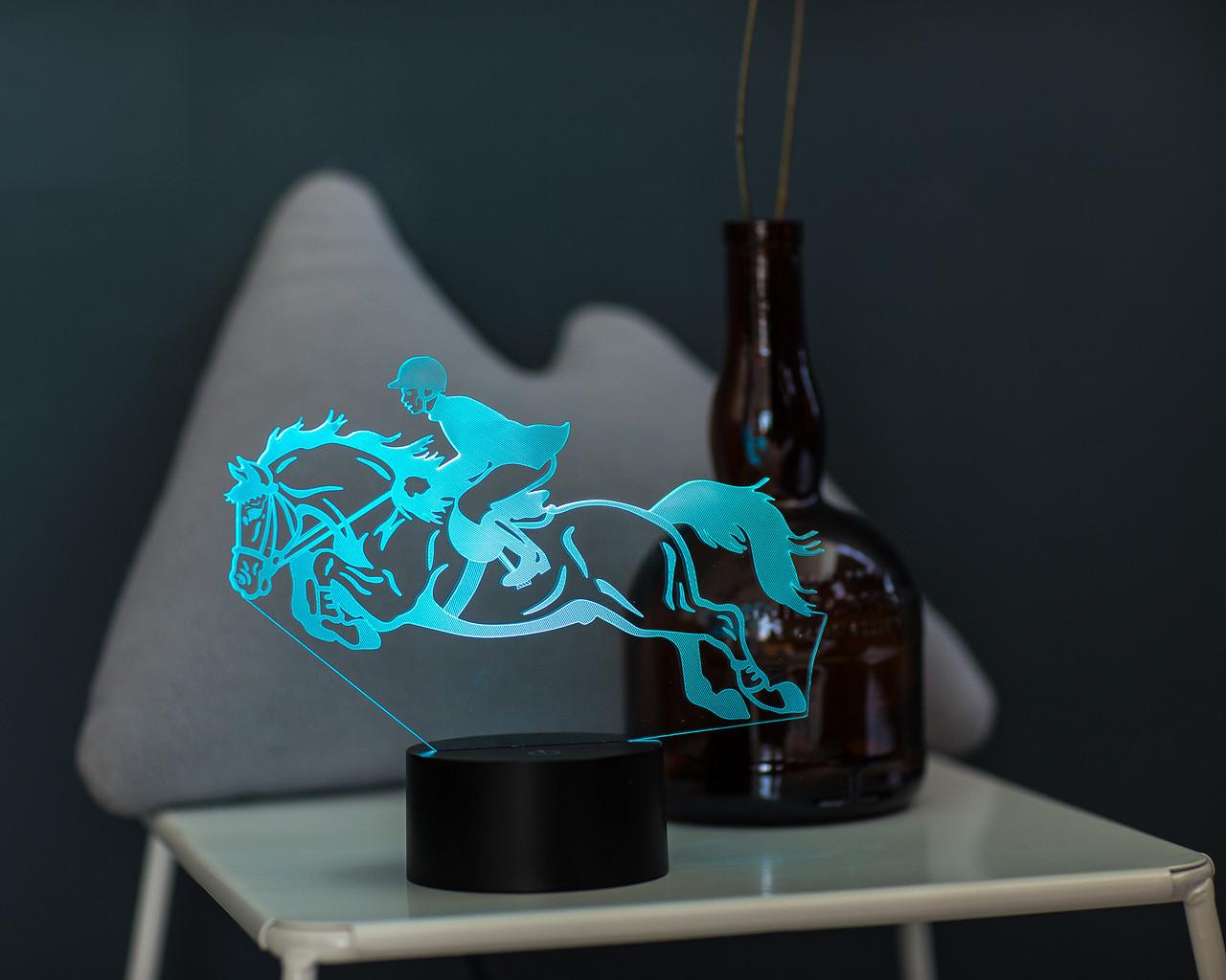 """Сменная пластина для 3D светильников """"Конный спорт"""" 3DTOYSLAMP"""