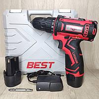 Шуруповёрт аккумуляторный Best ДА-12/2 Li с индикатором заряда