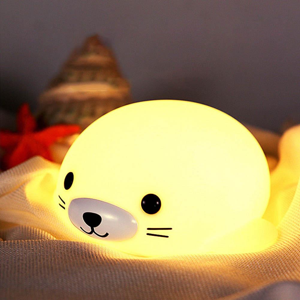 Силиконовый ночник-игрушка «Морской котик» 3DTOYSLAMP
