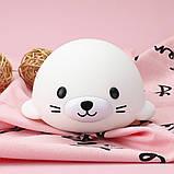 Силиконовый ночник-игрушка «Морской котик» 3DTOYSLAMP, фото 8