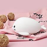 Силиконовый ночник-игрушка «Морской котик» 3DTOYSLAMP, фото 9