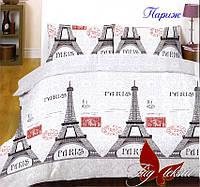 Комплект постельного белья полуторный Париж ТМ TAG 1,5-спальный, постельное белье полуторка