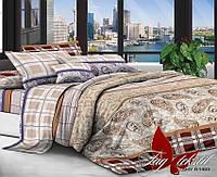 Комплект постельного белья полуторный XHY1469-2 ТМ TAG 1,5-спальный, постельное белье полуторка