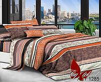 Комплект постельного белья полуторный XHY1285 ТМ TAG 1,5-спальный, постельное белье полуторка