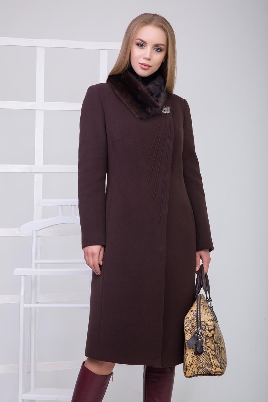 Пальто S-108i Черный шоколад
