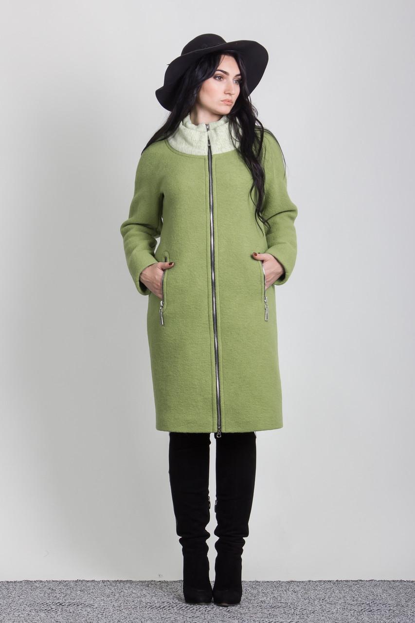 Пальто 2-432L Салатовый