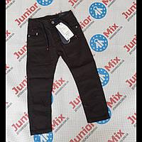 Котоновые детские брюки для мальчиков черного цвета оптом GRACE