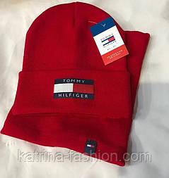 Модный комплект унисекс: шапка и баф  (в расцветках) красный бордо хаки серый черный