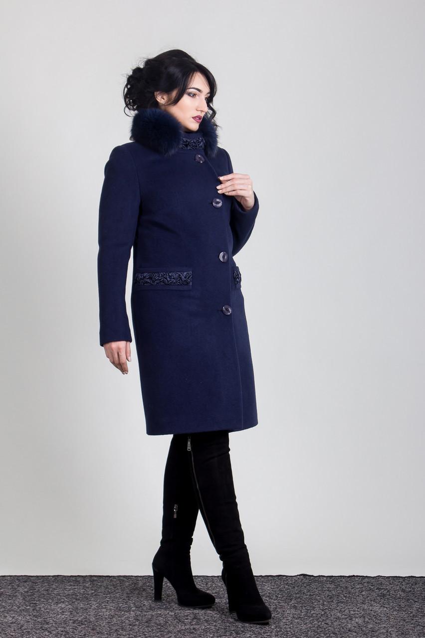 Пальто 1-092IT Темно-синий