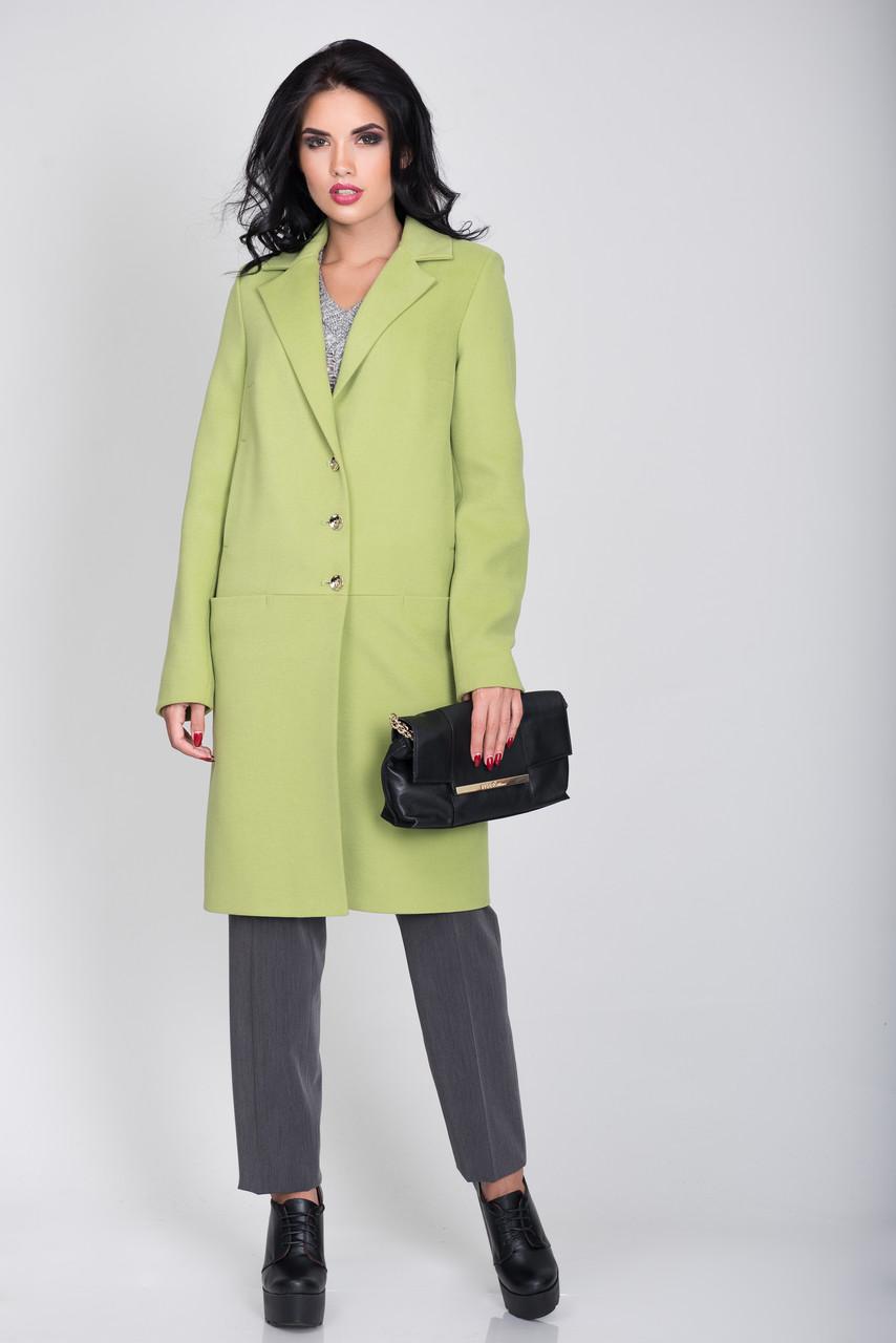Пальто S-2032 Зеленое яблоко