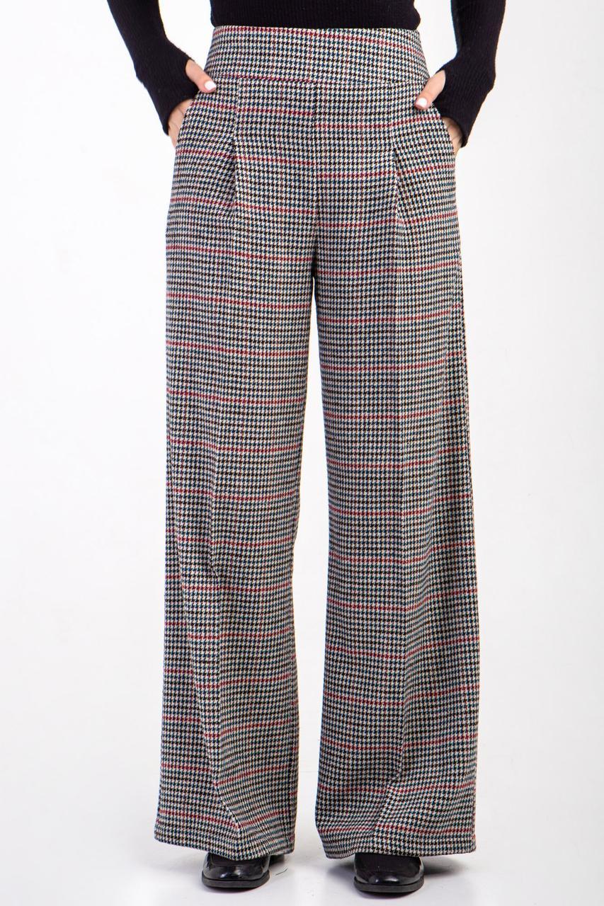 Широкие шерстяные брюки палаццо TWINKLE с завышенной талией и складками