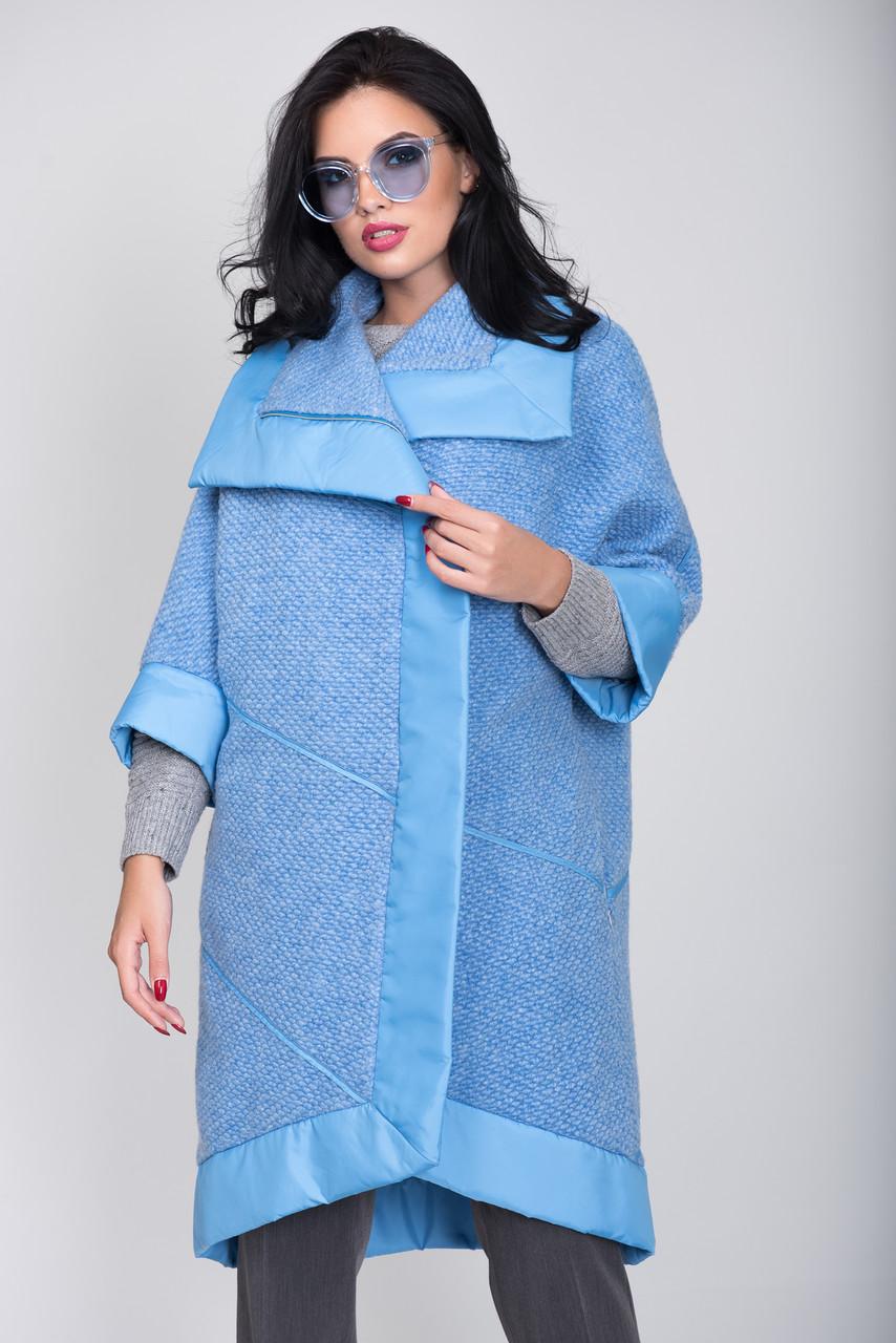 Пальто S-2051L Небесно-блакитний