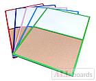 """Доска пробковая / маркерная (магнитная) DUO 90х60см в красной деревянной раме TM """"ALL boards"""", фото 2"""