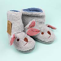 Детские меховые тапочки для дома Зайчик тм Giolan размер 26-27