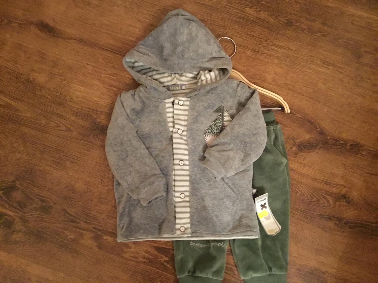 Детский костюм с брюками и кофтой с капюшоном