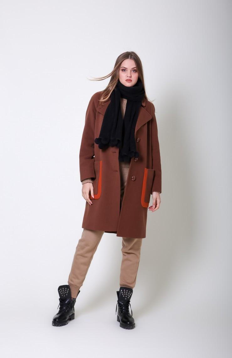 Пальто S-2063 Кориця