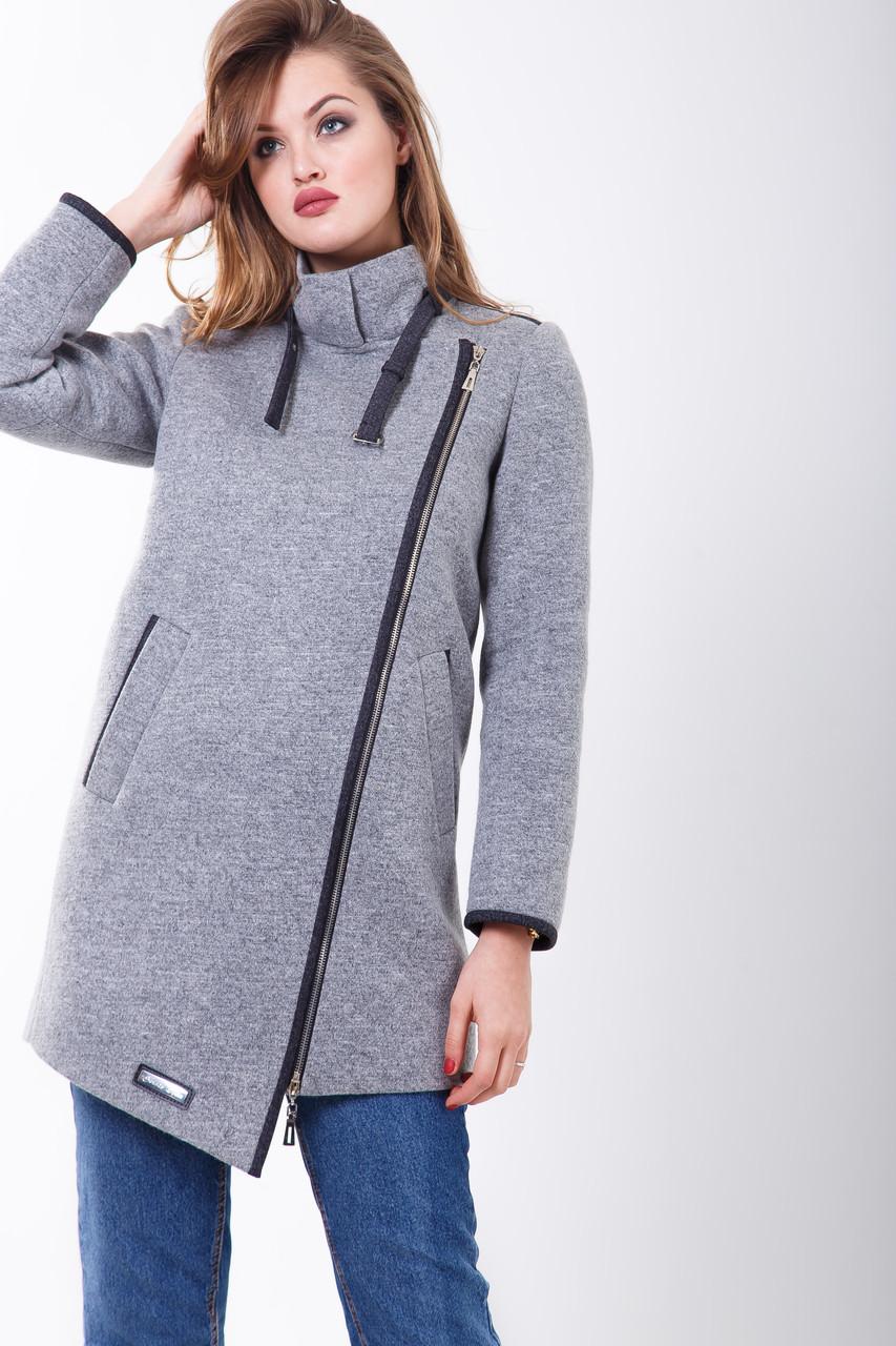 Пальто 2-461L Серый