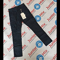 Котоновые подростковые брюки для мальчиков синего цвета GRACE