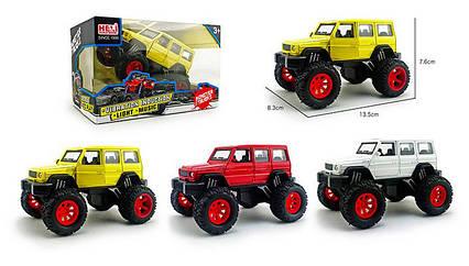 Машина метал 1029-1A(72шт/2) 1:32, Monster truck, світло, звук, аммортиз, 3 кольори, р-р машини 13,5*7,