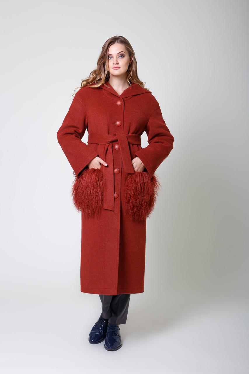 Пальто 1-115IT Червоне дерево
