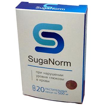 SugaNorm - Капсули від порушення рівня глюкози в крові (ШугеНорм)