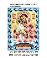 """Схема для вышивки бисером иконы """"БМ Почаевская"""""""