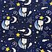"""Польская хлопковая ткань """"Мишки на звездном небе на темно-синем"""", фото 3"""