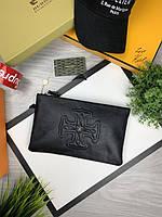 Борсетка Армани | Черная планшетка Армани | Armani сумка маленькая черная кожаная|Клатч кожаный Armani