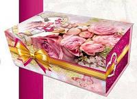 Подарочная коробка, 8 Марта, Розы, Картонная упаковка для конфет
