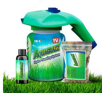 Жидкий газон Aquagrazz - Травосмесь для газона+Жидкий газон-органическая смесь 3в1