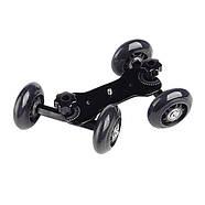 Тележка для видеосъемки, глайдтрек AccPro ST-07 Dolly Kit Skater black для съемки видео, Мини-тележка, фото 3
