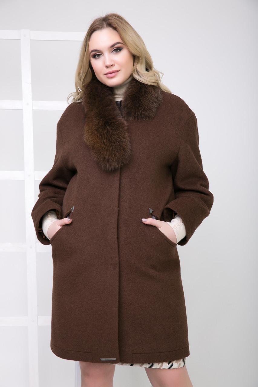 Пальто 1-095IT Шоколад