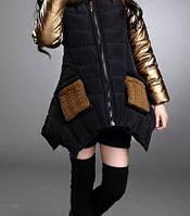 Куртка для девочки. GOLD. 110-160. Черная