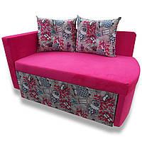 Диван детский Шпех 90см ( Филин+розовый, малютка раскладной). Диванчик со спальным местом 2 метра