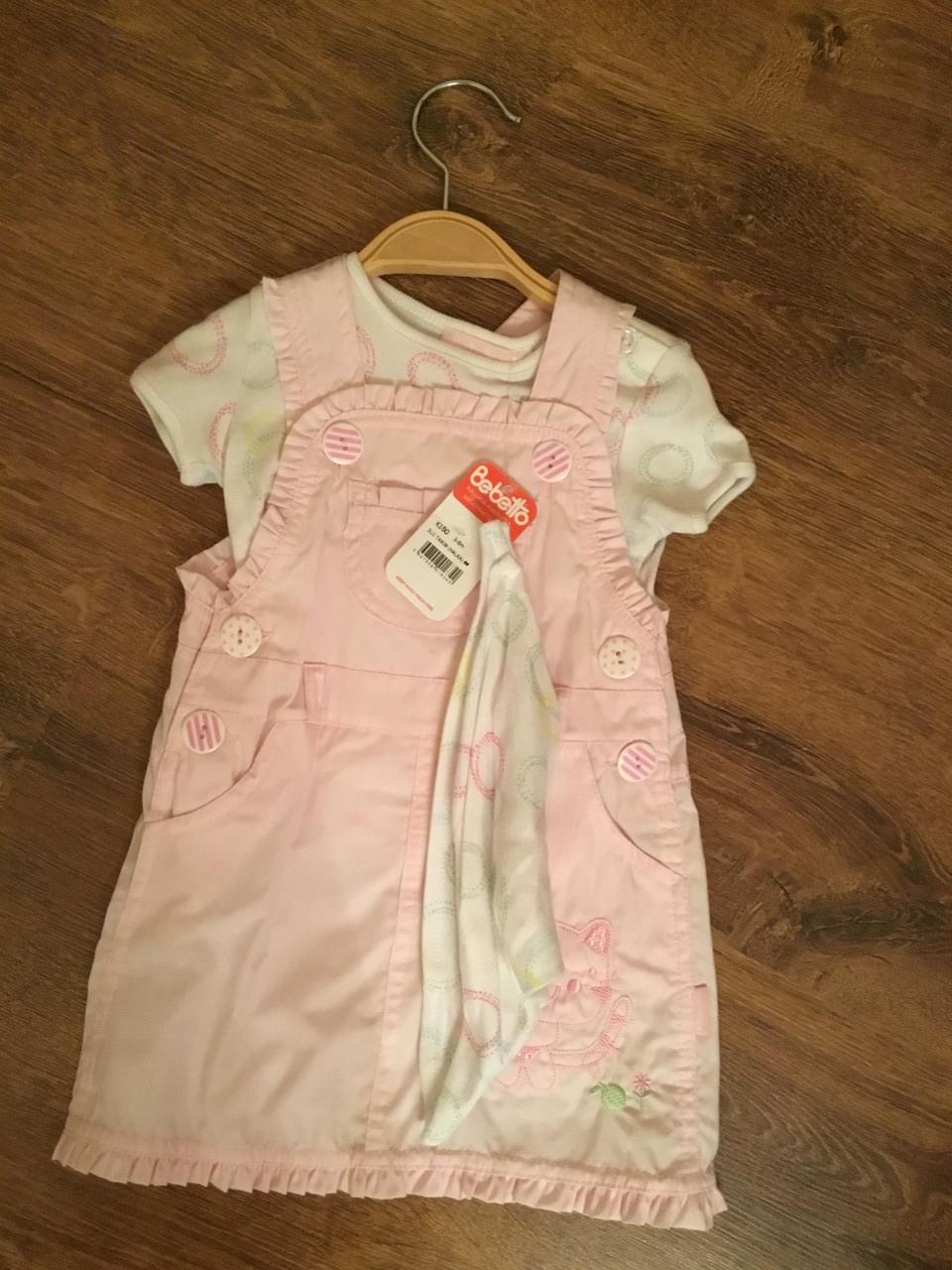 Летний костюм розового цвета для девочки