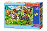 Пазлы Castorland Принцессы на конной прогулке 260 элементов (TOY-54960)