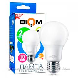 Светодиодная лампа BIOM BT-510 10W E27 4500K А60 (Груша)
