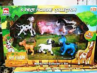Набір фігурок З тваринами, 6 шт D0102
