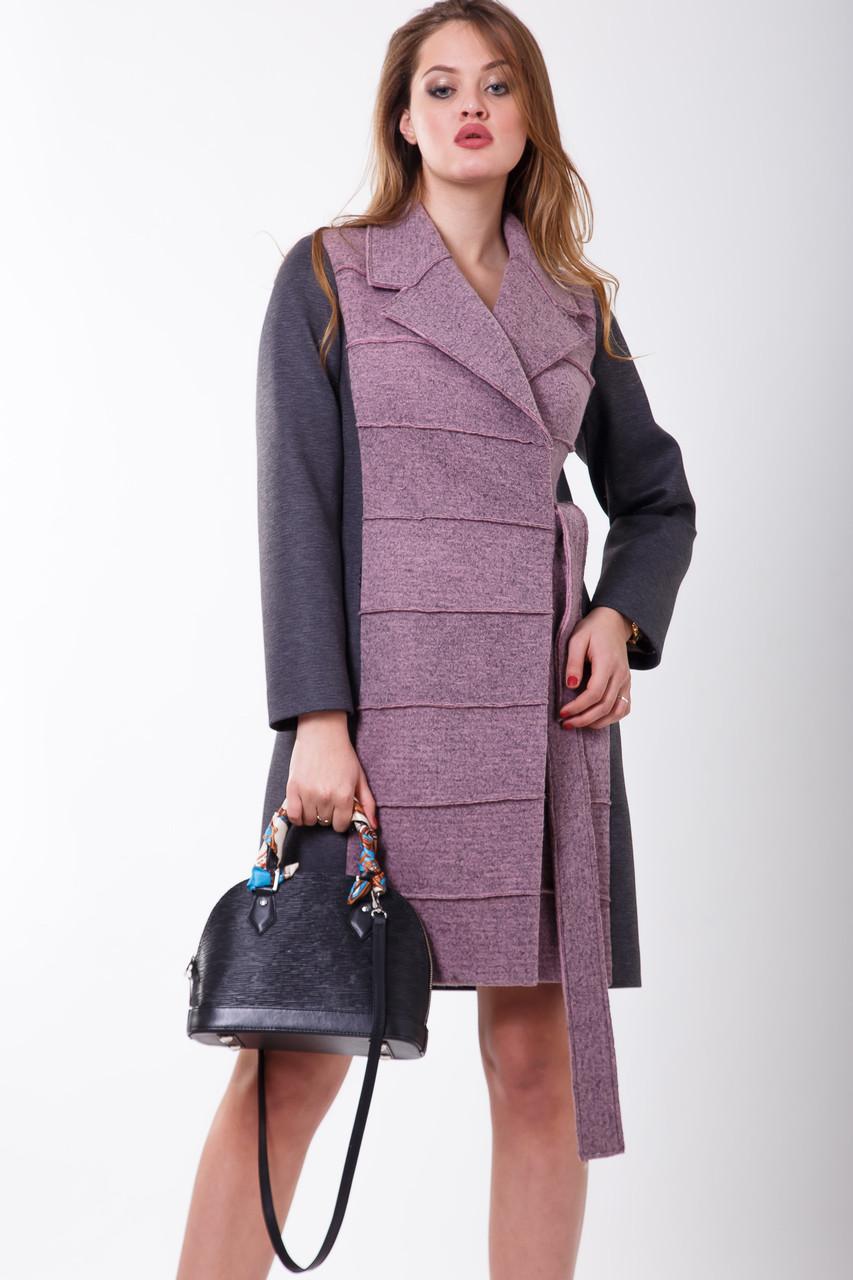 Пальто S-2101 Меланж розовый