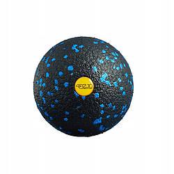 Масажний м'яч 4FIZJO EPP 8 см чорного кольору