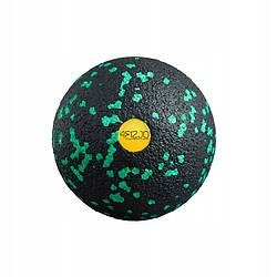 Масажний м'яч 4FIZJO EPP 8 см чорно зеленого кольору