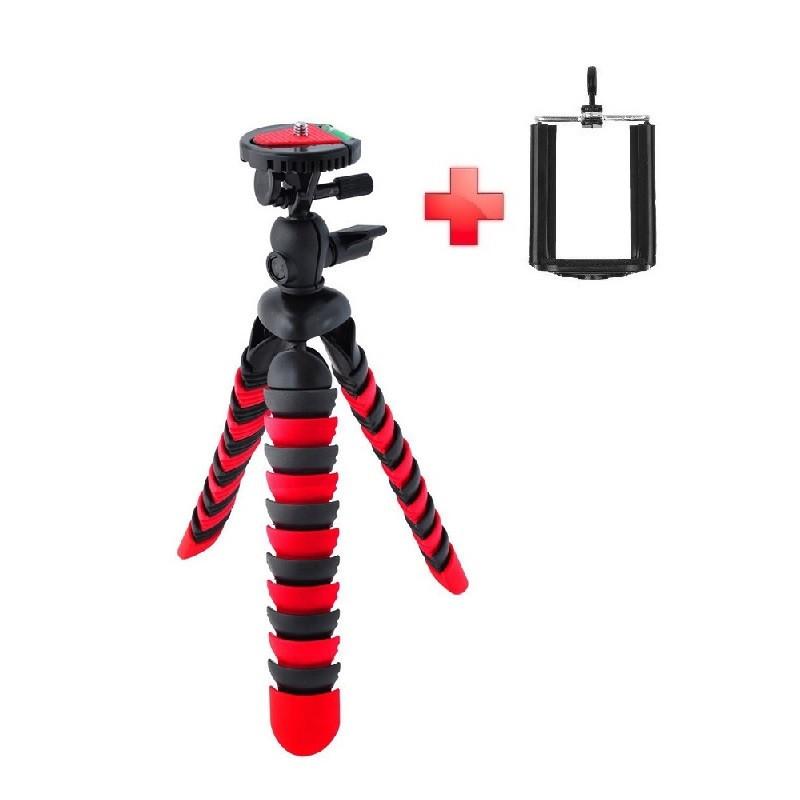 Гнучкий селфи штатив восьминіг або павук для смартфона з держателем настільний AccPro TM-20SM