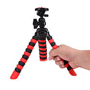 Гнучкий селфи штатив восьминіг або павук для смартфона з держателем настільний AccPro TM-20SM, фото 6