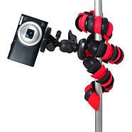 Гнучкий селфи штатив восьминіг або павук для смартфона з держателем настільний AccPro TM-20SM, фото 10