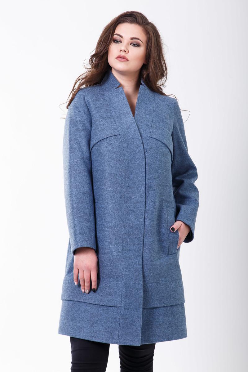 Пальто 2-504 Серо-голубой