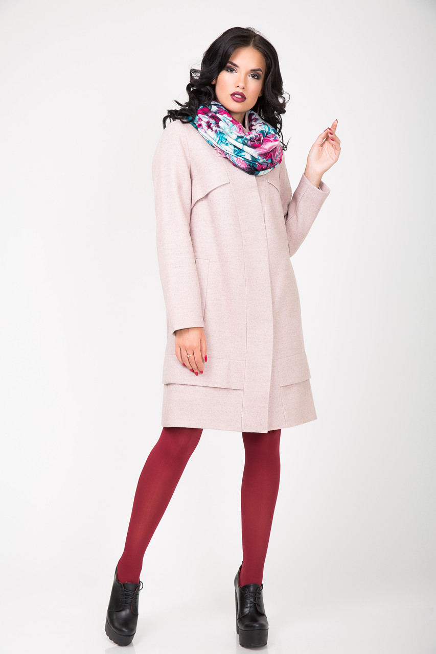 Пальто 2-504 Ніжно рожевий