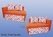 Диванчик Дитячий Шпех 90см (Слоники+оранж). Диван зі спальним місцем 2 метри, фото 2