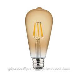 Филаментная лампа Horoz Electric Rustic 6W E27 2200K ST64 (Трубка)